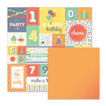 We R Memory Keepers - Cakes and Candles Collection - 12 x 12 Double Sided Paper - Party Time