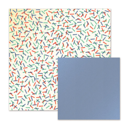 We R Memory Keepers - Cakes and Candles Collection - 12 x 12 Double Sided Paper - Confetti