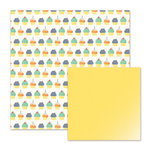 We R Memory Keepers - Cakes and Candles Collection - 12 x 12 Double Sided Paper - Cupcakes