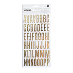 We R Memory Keepers - Clearly Posh Collection - Thickers - Alphabet - Gold Foil