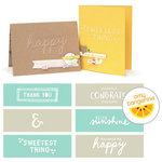 We R Memory Keepers - Amy Tangerine Collection - Embossing Strips - Phrases - Rise and Shine
