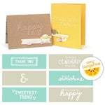 We R Memory Keepers - Rise and Shine Collection - Embossing Strips - Phrases