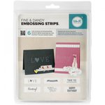 We R Memory Keepers - Fine and Dandy Collection - Embossing Strips - Phrases