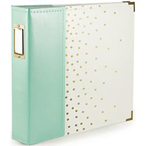 We R Memory Keepers - Album - 12 x 12 D-Ring - Mint With Gold Foil Dots
