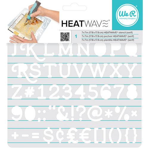 We R Memory Keepers - Heatwave Stencils - Serif