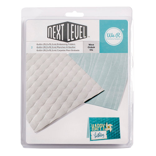 We R Memory Keepers - Next Level Embossing Folders - Wave