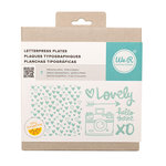 We R Memory Keepers - Finders Keepers Collection - Letterpress - Printing Plate Set