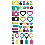 We R Memory Keepers - Hello Darling Collection - Enamel Stickers - Shapes