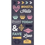 We R Memory Keepers - Denim Blues Collection - Denim Stickers