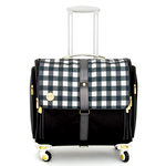We R Memory Keepers - 360 Crafter's Bag - Fold-Up - Plaid Black