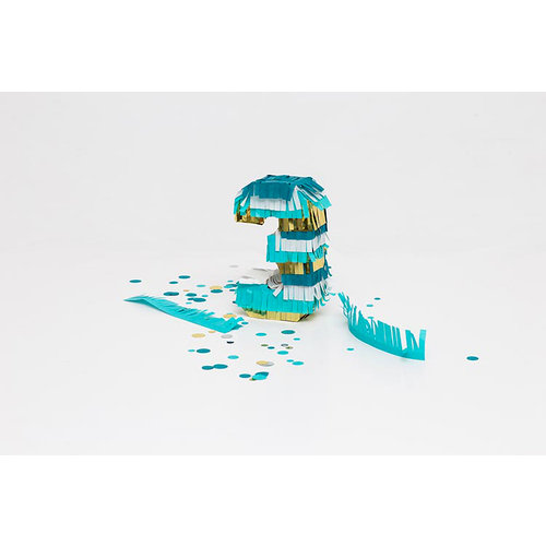 We R Memory Keepers - DIY Party Collection - Mini Pinata - Number 3 - 3 Pack