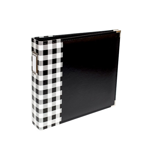 We R Memory Keepers - Album - 12 x 12 D-Ring - Buffalo Check - Black