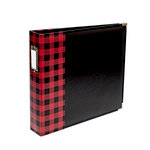 We R Memory Keepers - Album - 12 x 12 D-Ring - Buffalo Check - Red