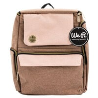 We R Memory Keepers - Crafter's Bag - Backpack - Taupe and Pink