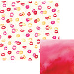 We R Memory Keepers - Urban Chic Collection - 12 x 12 Double Sided Paper - Kiss Kiss