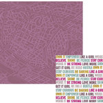 We R Memory Keepers - Urban Chic Collection - 12 x 12 Double Sided Paper - Wanderlust
