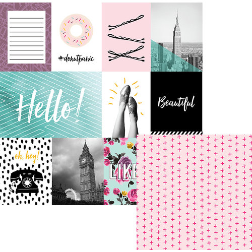 We R Memory Keepers - Urban Chic Collection - 12 x 12 Double Sided Paper - Like A Girl