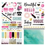 We R Memory Keepers - Urban Chic Collection - Cardstock Stickers - Accents