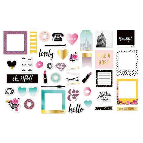 We R Memory Keepers - Urban Chic Collection - Ephemera with Foil Accents