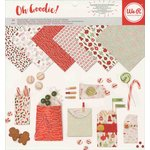We R Memory Keepers - Oh Goodie Collection - Christmas - 12 x 12 Paper Pad - Glassine Basic Holiday
