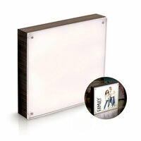 We R Memory Keepers - Photo Lights Collection - Acrylic Wood Frame - 8 x 8 - Ebony