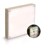 We R Memory Keepers - Photo Lights Collection - Acrylic Wood Frame - 8 x 8 - Natural