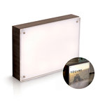 We R Memory Keepers - Photo Lights Collection - Acrylic Wood Frame - 5 x 7 - Ebony