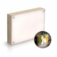 We R Memory Keepers - Photo Lights Collection - Acrylic Wood Frame - 5 x 7 - Natural
