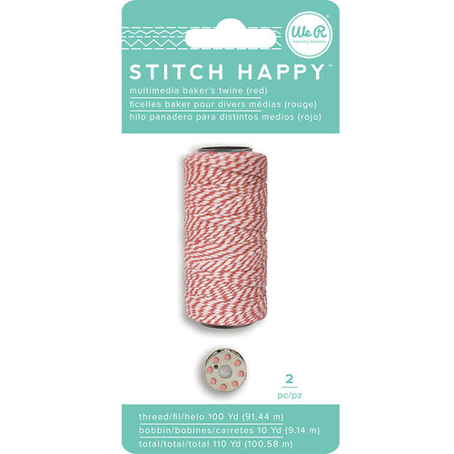We R Memory Keepers - Stitch Happy Collection - Thread - Bakers Twine - Red