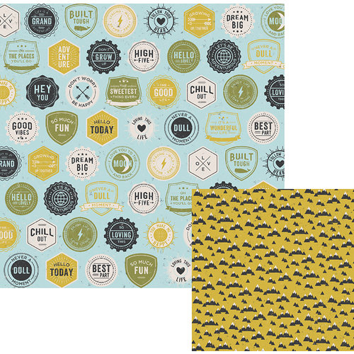 We R Memory Keepers - High Five Collection - 12 x 12 Double Sided Paper - Flair
