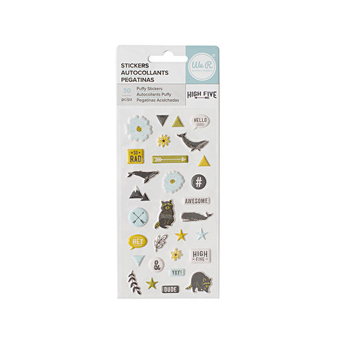 We R Memory Keepers - High Five Collection - Puffy Stickers