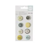 We R Memory Keepers - High Five Collection - Plastic Buttons