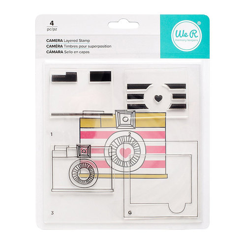 We R Memory Keepers - Layered Stamps - Camera