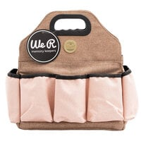We R Memory Keepers - Crafter's Bag - Tote Bag - Taupe and Pink