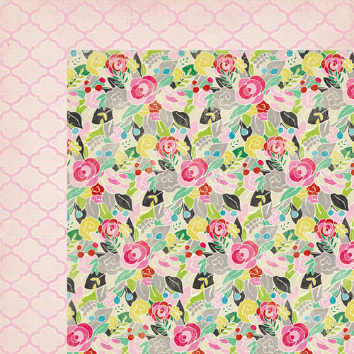 American Crafts - Crate Paper - On Trend Collection - 12 x 12 Double Sided Paper - Haute