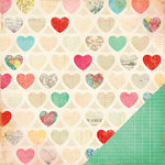 American Crafts - Crate Paper - Fourteen Collection - 12 x 12 Double Sided Paper - Be Mine