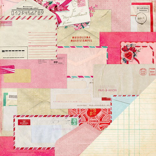 American Crafts - Crate Paper - Fourteen Collection - 12 x 12 Double Sided Paper - Valentine