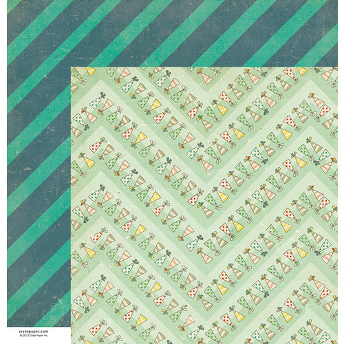 American Crafts - Crate Paper - Party Day Collection - 12 x 12 Double Sided Paper - Favors