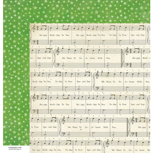 American Crafts - Crate Paper - Party Day Collection - 12 x 12 Double Sided Paper - Wish