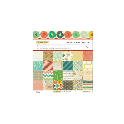 American Crafts - Crate Paper - Party Day Collection - 12 x 12 Paper Pad