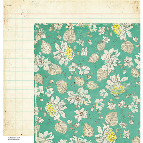 American Crafts - Crate Paper - DIY Shop Collection - 12 x 12 Double Sided Paper - Artistry