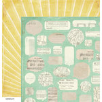 American Crafts - Crate Paper - DIY Shop Collection - 12 x 12 Double Sided Paper - Paper Clippings