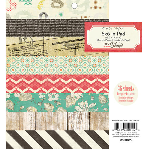 American Crafts - Crate Paper - DIY Shop Collection - 6 x 6 Paper Pad