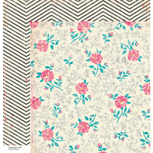 American Crafts - Crate Paper - Maggie Holmes Collection - 12 x 12 Double Sided Paper - Elizabeth Kate