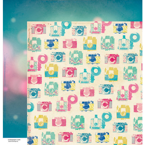 American Crafts - Crate Paper - Maggie Holmes Collection - 12 x 12 Double Sided Paper - Dreamy