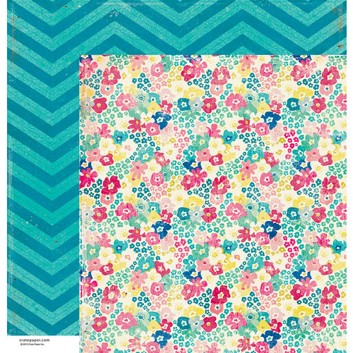 American Crafts - Crate Paper - Maggie Holmes Collection - 12 x 12 Double Sided Paper - Wonderful