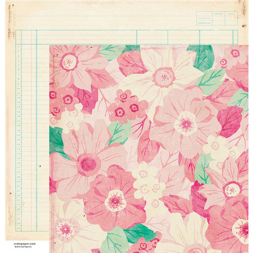 American Crafts - Crate Paper - Maggie Holmes Collection - 12 x 12 Double Sided Paper - Emily Jane