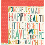 Crate Paper - Wonder Collection - 12 x 12 Double Sided Paper - Bright