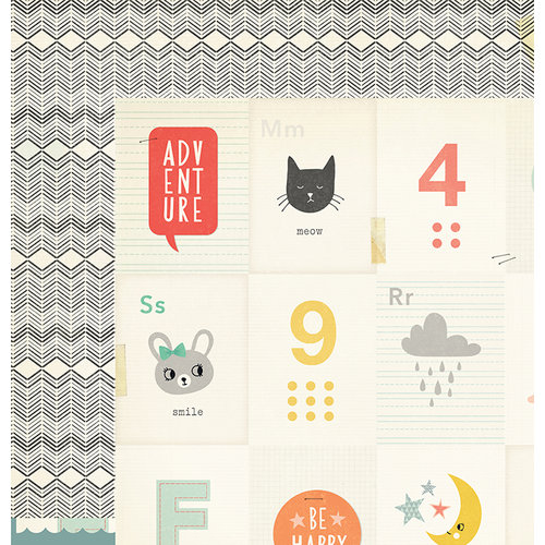 Crate Paper - Wonder Collection - 12 x 12 Double Sided Paper - Dream