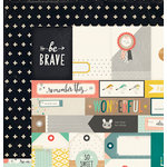 Crate Paper - Wonder Collection - 12 x 12 Double Sided Paper - Brave